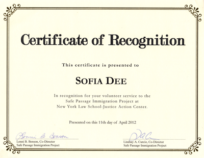 Sofia-Certificate-of-recognition